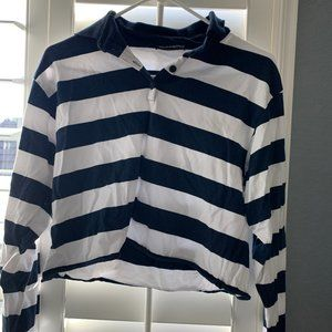 brandy melville stripped cropped long sleeve